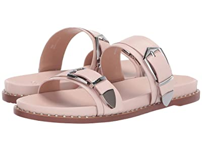 LINEA Paolo Rae Buckle Sandal (Pale Pink Nappa Leather) Women