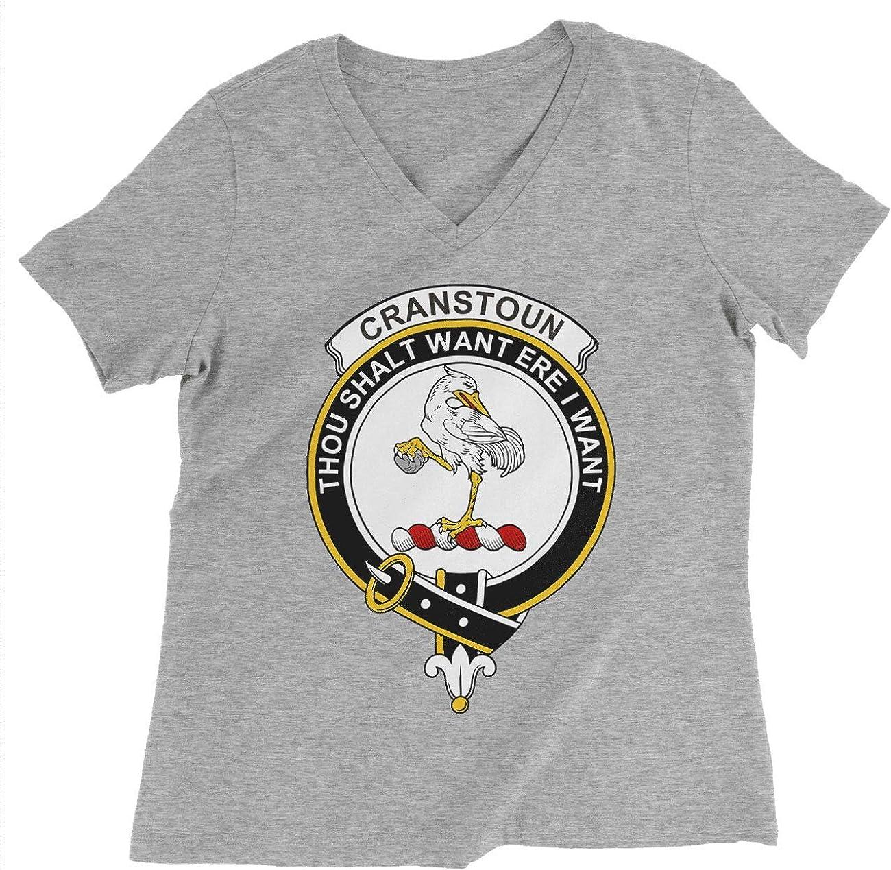HARD EDGE DESIGN Women's Scottish Clan Crest Badge Cranstoun T-Shirt