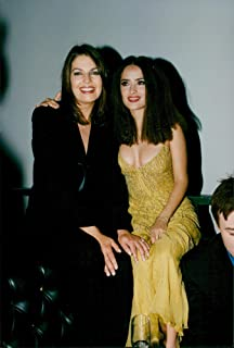 Vintage photo of Mexican-American actress Salma Hayek along with Sela Ward at the film premier of