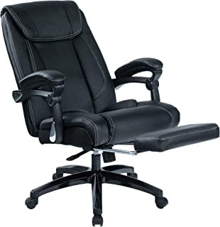 Kasorix Ergonomic Managerial and Executive Chair Home Office Chair with Footrest Desk Chair with Auto Linked Armrests(Blac...
