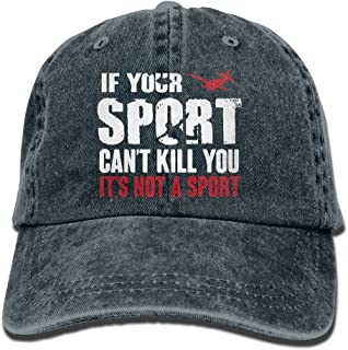 Unisex Adjustable Denim Fabric Baseball Cap Skydiving If Your Sport Can't Kill You It's Not A Sport Trucker Cap