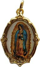 Angelitos de Mexico Virgen De Guadalupe Medal Gold-Tone Catholic Our Lady of Guadalupe Prayer Handmade Medal