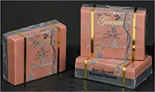Rose Clay with Activated Charcoal Goat's Milk and Olive Oil Beauty Bar