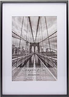 Cooper & Co. Homewares A3 Matt to A4 Premium Metallicus Metal Photo Frames, Black (PF0018BK)