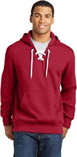 Men's Lace Up Pullover Hooded Sweatshirt