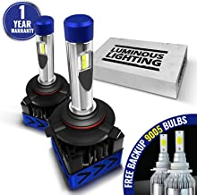 AccCITY MAX CSP LED Headlight Bulbs All-in-One Conversion Kit FREE BACKUP BULBS - 9005 HB3-9,000Lm 6000K Cool White CREE