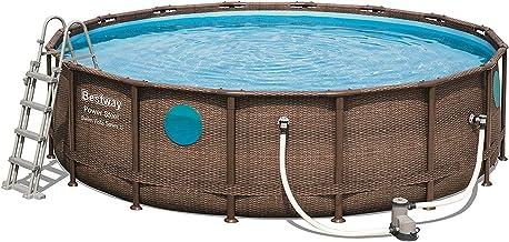 Bestway Power Steel Swim Vista Pool D4.88 m H1.22 m Imitación trenzada + ojo
