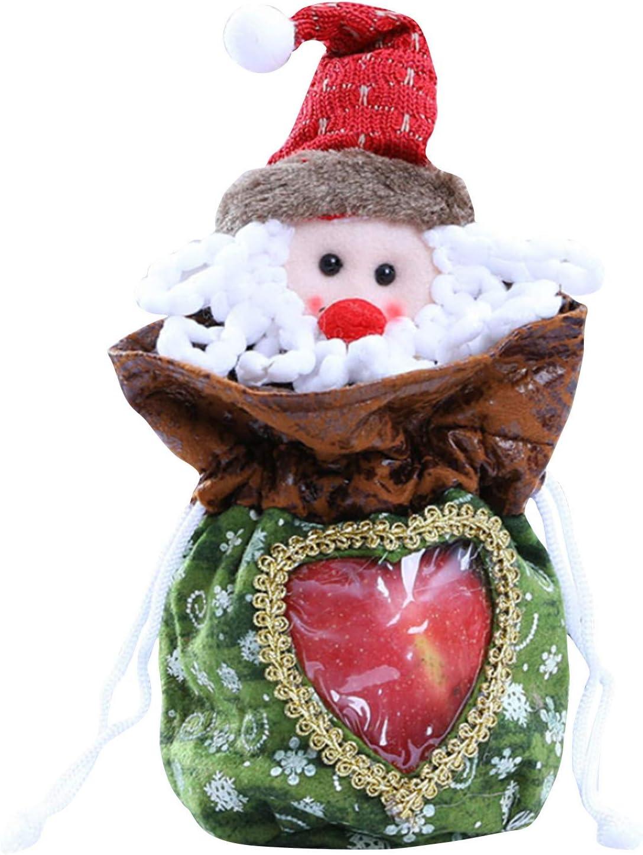 Max 90% OFF Christmas Storage Present Bags Santa Claus Snow Bear Elk Large discharge sale Snowman