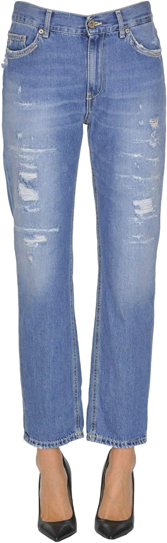 Dondup Women's MCGLDNM000005039E bluee Cotton Jeans