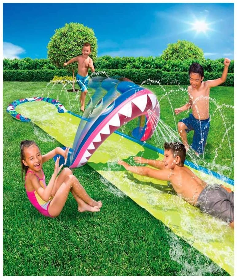 BANZAI Shark BITE Water - 16' Slide Max Fresno Mall 75% OFF