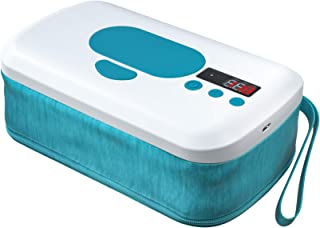 Portable Wipe Warmer with 10000 mAh Battery Powered,2 Modes, Smart Temperature Control, LED Display,Perfect for Baby Diape...