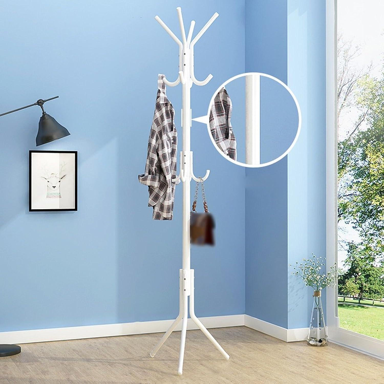 Li@ Coat Rack, Simple Household Bedroom Economical Clothes Rack, Floor Hanger, Simple Single Rod Rack (color   White)