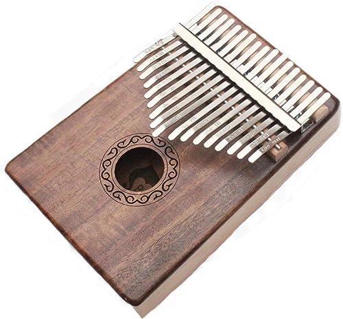 musoo 17 Keys Kalimba Thumb Piano Solid KOA Body with Learning Book, Tune Hammer, Cloth Bag, Sticker and Bilingual In...