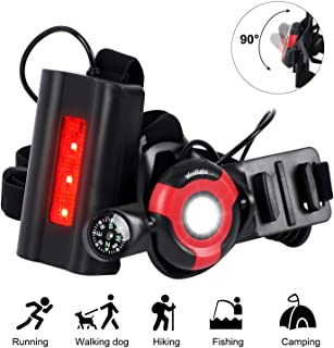 ICOCOPRO Running Light LED Chest Light, 90° Adjustable Beam, 500 Lumens, USB Rechargeable Waterproof Night Run Light with Back Warning Light for Running, Jogging, Hiking, Camping, Outdoor Adventure