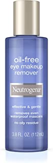 Neutrogena Gentle Oil-Free Eye Makeup Remover & Cleanser for Sensitive Eyes, Non-Greasy Makeup Remover, Removes Waterproof Mascara, Dermatologist & Ophthalmologist Tested, 3.8 fl. oz