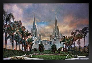 The Temple by Chris Lord Photo Black Wood Framed Art Poster 14x20