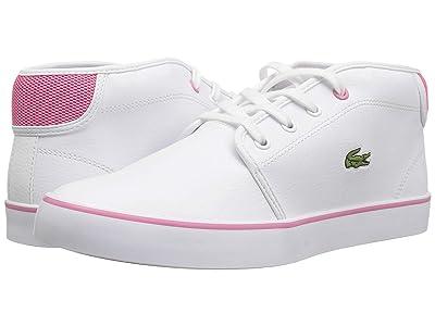 Lacoste Kids Ampthill 118 1 CAJ (Little Kid/Big Kid) (White/Pink) Girl