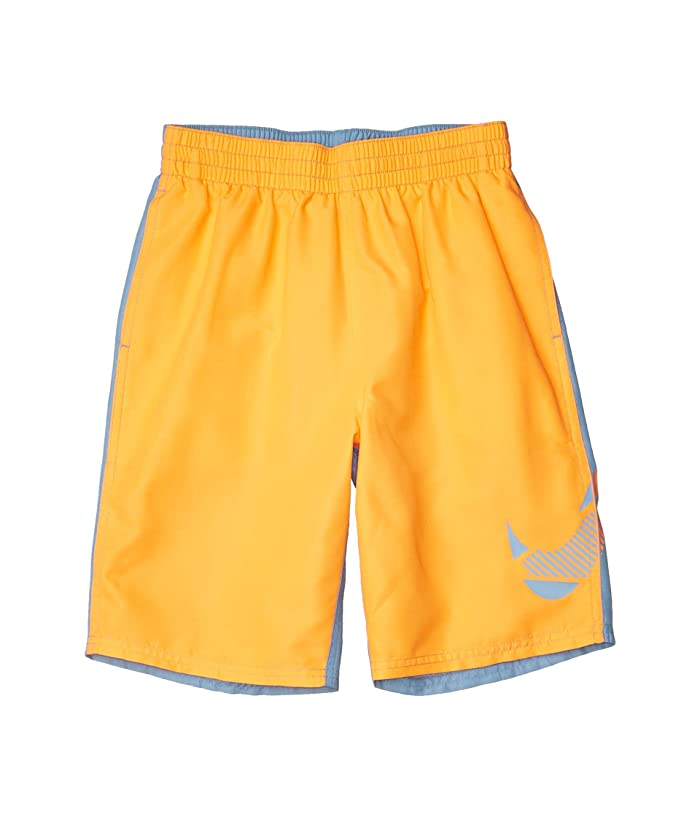 Nike Kids  8 Color Block Volley Shorts (Little Kids/Big Kids) (Total Orange) Boys Swimwear
