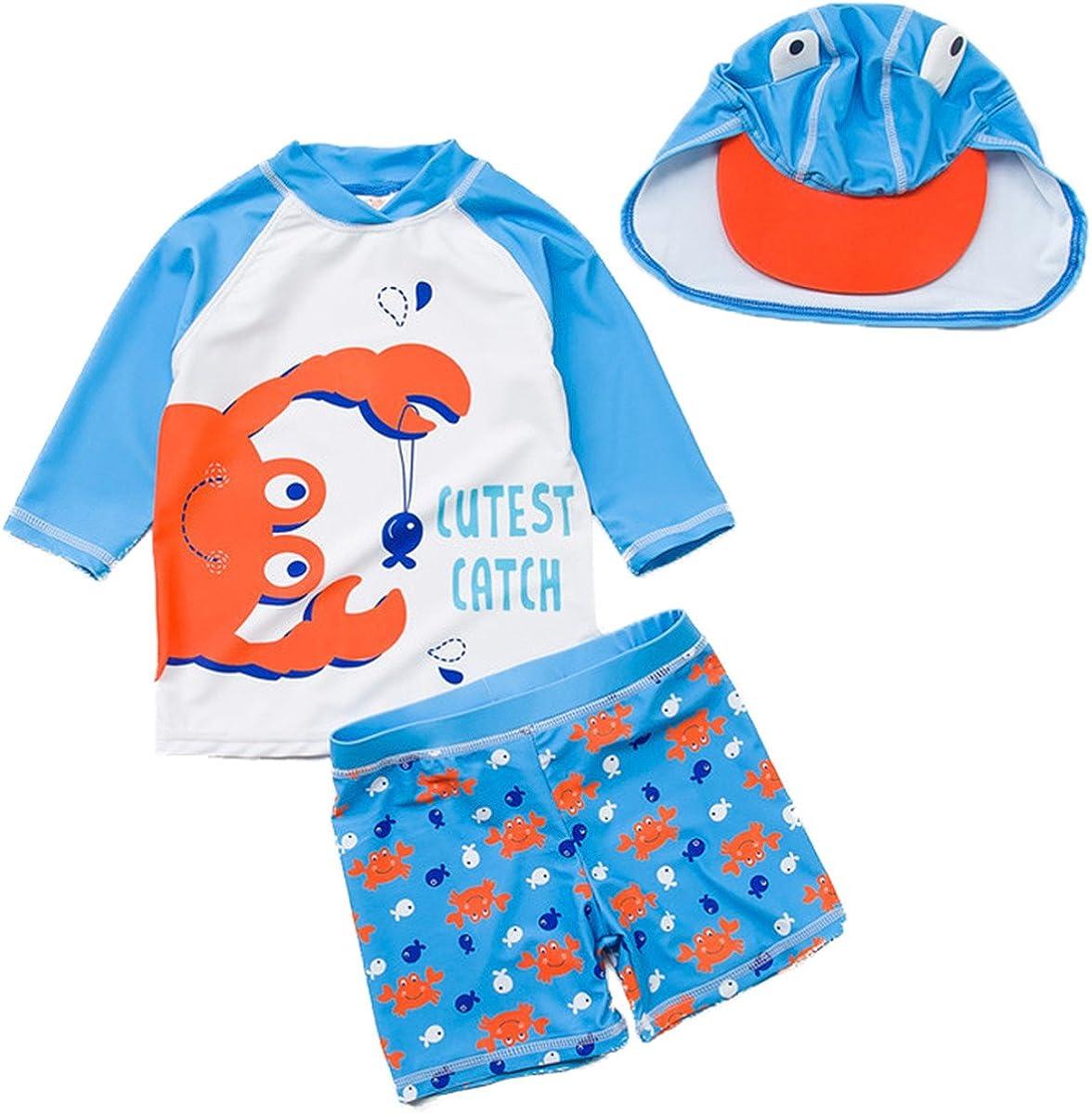 New product!! Baby Kids Boys Two Pieces Cartoon Swimwear Dinosaur Rash Los Angeles Mall G Print
