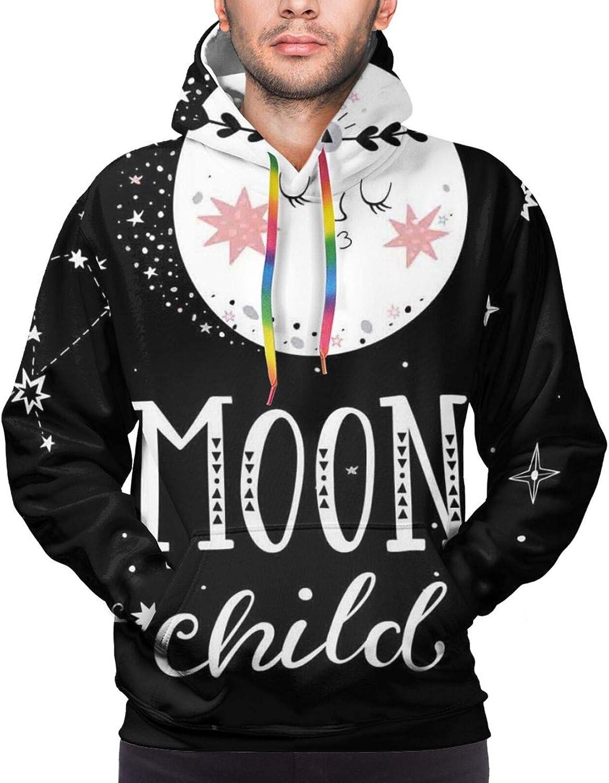 Men's Hoodies Sweatshirts,Cartoon Style Funny Sheep Sitting On A Blue Cloud Birth and Future Kids Design
