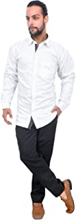The Mods Men's Formal White Color Shirt