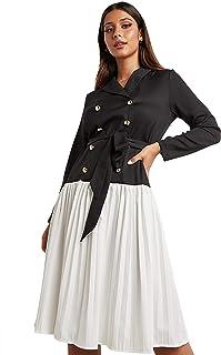 فستان كسرات للنساء بطول متوسط