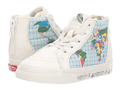 Vans Kids Vans x Save Our Planet SK8-Hi Zip (Infant/Toddler) ((Save Our Planet) Classic White/Multi) Kids Shoes