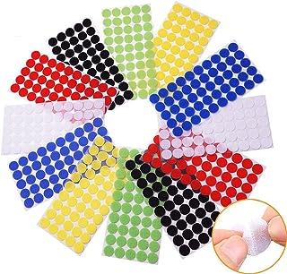 Arlent 324Pares Velcros Adhesivo Redondo 10mm, Lunares Adhesivo Cintas Autoadhesivo Puntos Velcros Adhesivo 6 colores