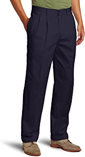 IZOD Men's Big and Tall American Chino Double Pleated Pant