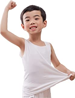 Nasse Boys Cotton Super Soft Sleeveless Undershirts Free-Cut Tank Tops