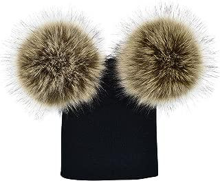 Mornbaby Baby Winter Warm Knit Hat Infant Toddler Pom Pom Beanie Photography Fur Ski Cap