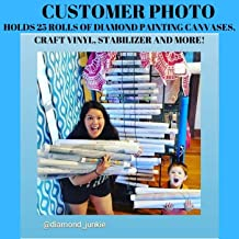 The Roll Keeper-Adjustable Space Saving Storage Solution And Holder For Craft Vinyl Rolls/Diamond Painting Canvases/Deco Mesh/Sewing Stabilizer/T-shirts/Comes In Several Sizes and Colors/BU 50