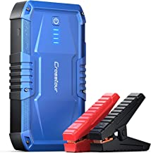 Jump Starter, Crosstour JT240 Car Jump Starter for up to 7L Gas or 5.5L Diesel Engine, 1200A Peak 12V Car Battery Booster, 13000mAh Portable Power Pack with Dual USB Outputs and Built-in LED Light