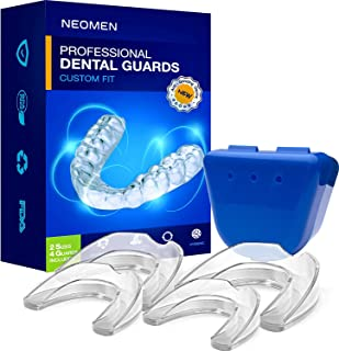Best Neomen Professional Dental Guard - 2 Sizes, Pack of 4 - Upgraded Mouth Guard For Teeth Grinding, Anti Grinding Dental Night Guard, Stops Bruxism, Tmj & Eliminates Teeth Clenching, 100% Satisfaction Review