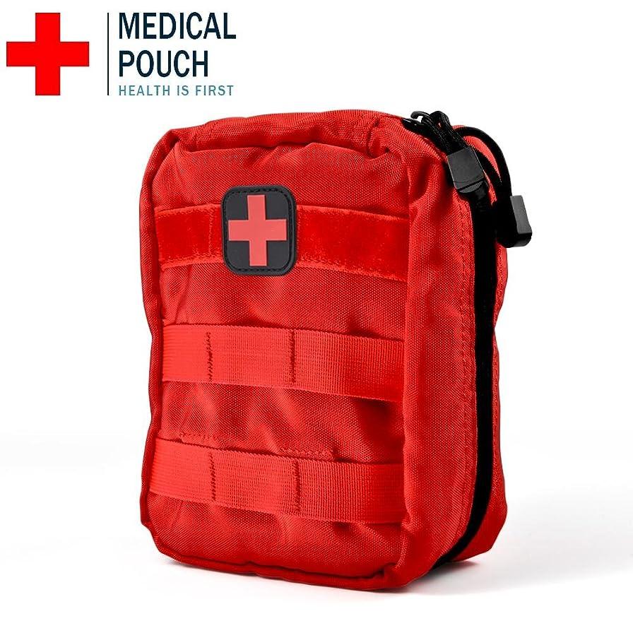 ゲージリード液体医療 緊急バッグ バック メディカル 救急ポーチ 1000Dオックスフォード Molle対応 軽量 多機能 外出 医療 防災 家庭 学校 旅行 登山用 応急処置バッグ