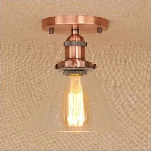SSBY personnalité simple restaurant salon plafond de verre transparent lampes rétro nostalgique plafond plafond décoratif feu simple feu de fer métalliquef