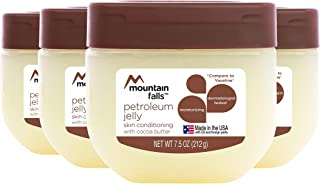 Mountain Falls Petroleum Jelly Skin Conditioning, with Cocoa Butter, 7.5 Ounce (Pack of 4)