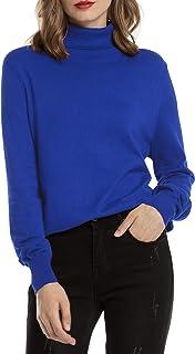 Jersey Cuello Alto Camiseta Manga Larga Sueter Invierno Jersey Basico Suelto Jerseys Camisa Tops Pull-Over Suéter Mujer Primavera Otoño