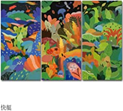 Prints on Canvas FYSKJDG, 3 Panels/Sets Posters And Prints Contemporary Abstract Flower Oil Paintings On Canvas Wall Pictures For Living Room(No Frame)