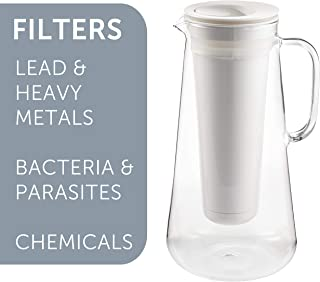 glass pitcher with filter