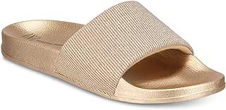 Inc Metallic Slide Slippers - Gold, XL