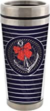 Nautical Anchor Bow Stainless Steel 16 oz Travel Mug with Lid