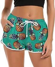 Fanient Shorts Mujer Pantalones Cortos de Nadar Moda Pantalones de Pijama Cortos Mujer Traje de baño de Verano Gimnasio Entrenamiento Pantalones Deportivos con cordón Ajustable Pantalones de Yoga