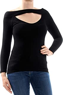 Intimately Free People Womens Find Me Cut-Out Fitted Top Black XS/S