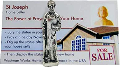 Westmon Works St. Joseph Home Seller Kit with Metal Statue and Protective Case