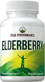 Sponsored Ad - Elderberry Vegan Capsules Made with Organic Elderberry by Peak Performance. Natural Austrian Grown Black El...
