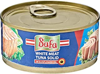 Safa White Meat Tuna Solid In Sunflower Oil, 160 gm