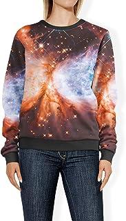 Rainbow Rules Space Nebula Womens Sweatshirt - 2XL Blue