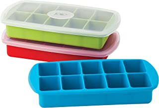 Joie Assorted Colors Silicone 10 Slot Ice Cube Tray