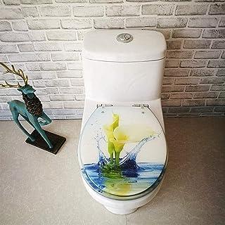 Toiletbril Lotus toiletdeksel met verstelbare scharnier Quick Release toiletstoelhoes Verdikte Badkamer Deksel Voor V/U/O-...